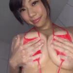 鈴木ふみ奈 お風呂でHカップバストに乳液を垂らすアイドル