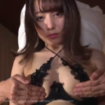 前田美里 黒いエッチな下着を着て胸やお尻を揉まれた後擬似騎乗位するアイドル