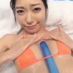 三田羽衣 マイクロビキニ姿でお風呂でローションまみれになるお姉さま