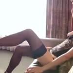 中村静香 下着姿でセクシーにボディを見せる黒パンストを履いたアイドル