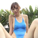 黒木茉莉花 乳首ポッチした超ハイレグの競泳水着を着るアイドル
