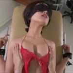 朝比奈祐未 診察台に目隠しで拘束され胸やお尻を触られた後アイスを擬似フェラする人妻